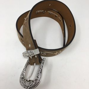 Nocona Genuine Leather Embroidered Belt Small